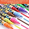 WER 8 Colors/Pack Fluorescent Highlighter Neon Liquid Chalk Marker Pens Dry Erase Board Markers(6mm Tip) for Children As DIY Tool