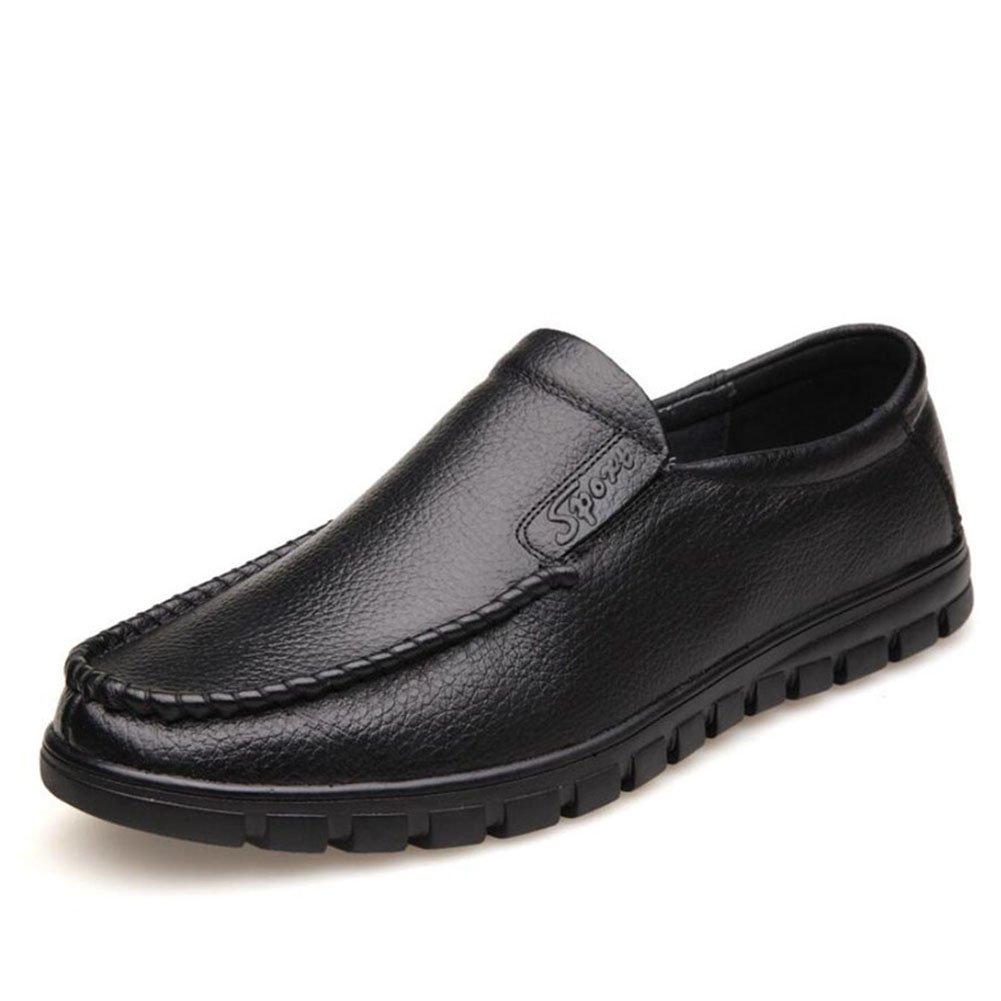 Herren Loafers  SlipOns/Lederschuhe/weisshe Unterseite/weisshe Oberfläche/Casual/Herren Schuhe/Täglich/Reisen/Leichte Fahr Schuhe (Farbe : Schwarz  Größe : 38) Schwarz