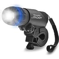 Aduro Bike Headlight Bicycle Light, Powerful 40X Brighter LED Bike Lights, Universal Portable & Adjutable, Doubles as…