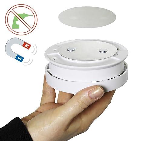 Bioledex Pad Magnético para detector de humo – Montaje Sin Agujeros con adhesiva