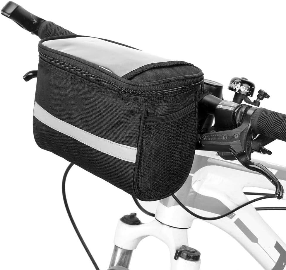 Lixada Bolsa para Manillar Bicicleta Bolsa Delantera de Bicicleta con Tira Reflectante Bolsa para Ciclismo MTB Bicicleta: Amazon.es: Deportes y aire libre