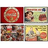 Lot de 4 sets de table Motif Coca Cola vintage (2° version)