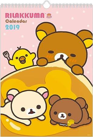Amazon サンエックス リラックマ 2019年 カレンダー 壁掛け B4 Cd32501