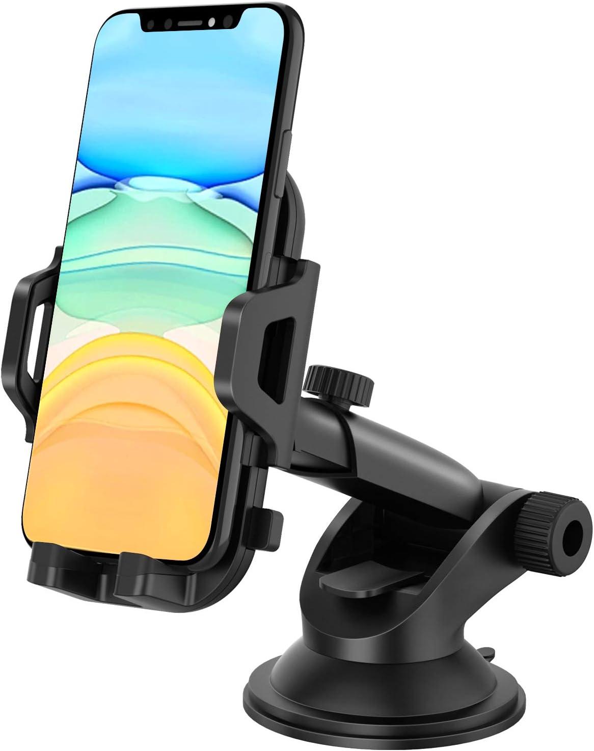 MOSOTECH Soporte Móvil para Coche, Rotación de 360 ° Universal Porta Movil Coche Ventosa para Tablero de Instrumentos/Parabrisas para iPhone 11/11 Pro /11 Pro MAX/XS MAX, Samsung Note 10/S10e, Huawei