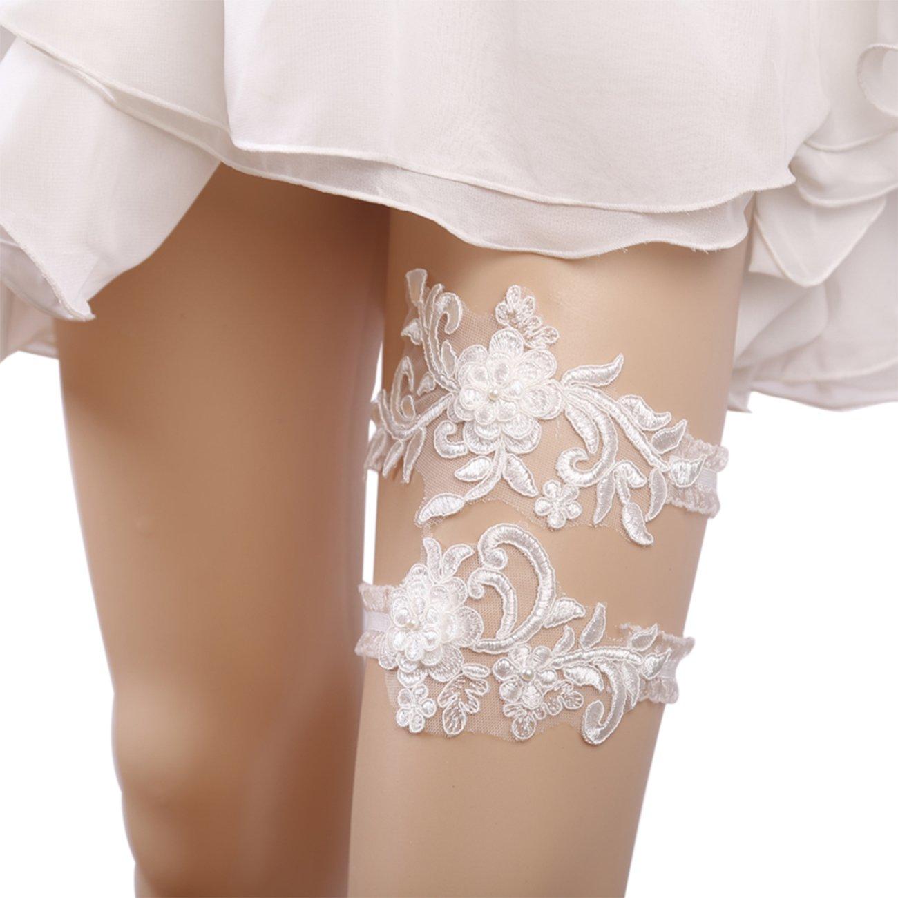 Mintso Wedding Bridal Flowers Garter for Brides (J082)