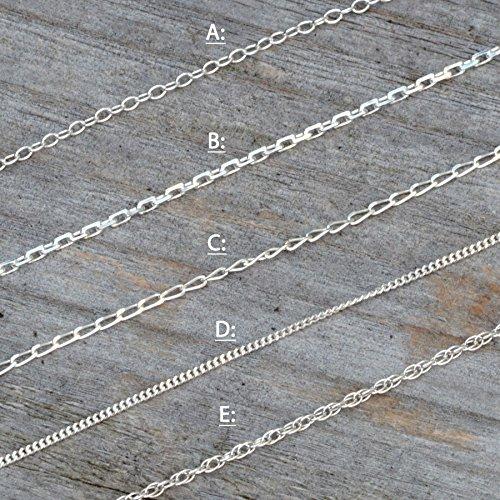 Solid Sterling Silver Chain, Trace, Diamond Cut Trace, Diamond Cut Curb, Curb And Rope from Huiyi Tan