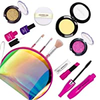 Seckton Pretend Makeup Kit Toys for 2, 3, 4, 5 Year Old Girls, First Make Up Set for Little Princess Play Dress Up, Kids Cosmetic, Best Birthday Gift for Toddler-With Fashion Handbag (Not Real Makeup)