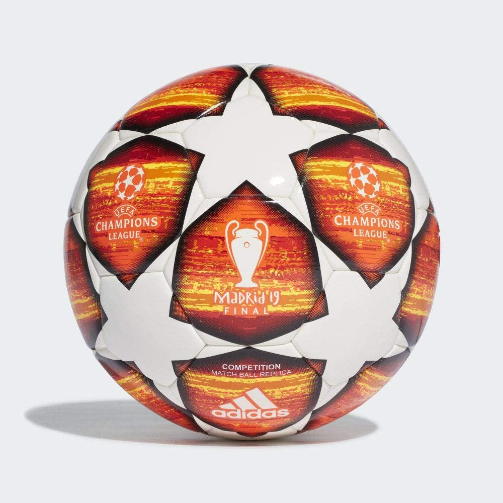 amazon com adidas 2019 champions league madrid final football competition match ball replica size 5 sports outdoors adidas 2019 champions league madrid final football competition match ball replica size 5