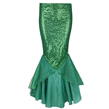 MSemis Falda de Cola Sirena para Mujer Chica Falda Brillante con ...