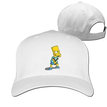 Hittings The Simpsons Springfield Dog Bart Activist Snapback Hat White f4495c7ccd69