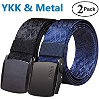 Fairwin Men's Military Tactical Web Belt, Nylon Canvas Webbing YKK Plastic/Metal Buckle Belt …
