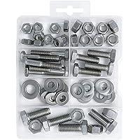 T.K.Uitstekende zeskantschroef en zeskantmoer, 304 roestvrij staal, 1/4 & 5/16, assortiment schroeven, 60 stuks