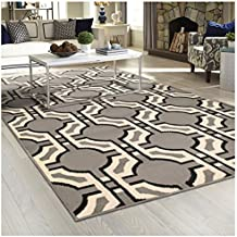 "Superior Pritchard Collection Area Rug, Attractive Rug with Jute Backing, Durable and Beautiful Woven Structure, Contemporary Geometric Rug - 2'7"" x 8'"