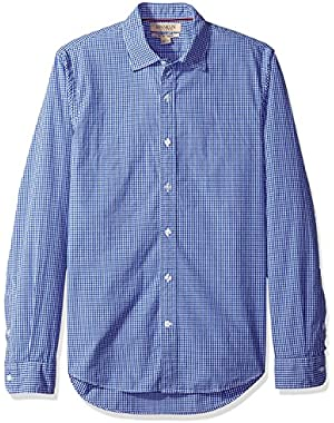 Men's Slim-Fit Long-Sleeve Small-Scale Gingham Shirt