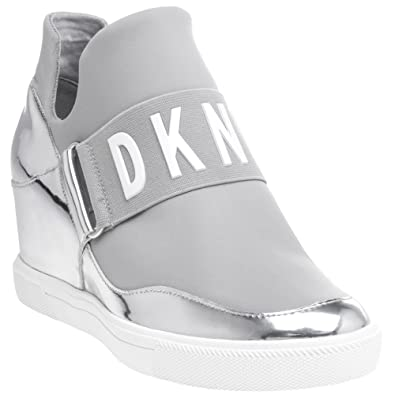 292def78b8863f DKNY Cosmos Sneaker Wedge Trainers Metallic 6.5 UK Silver  Amazon.co ...