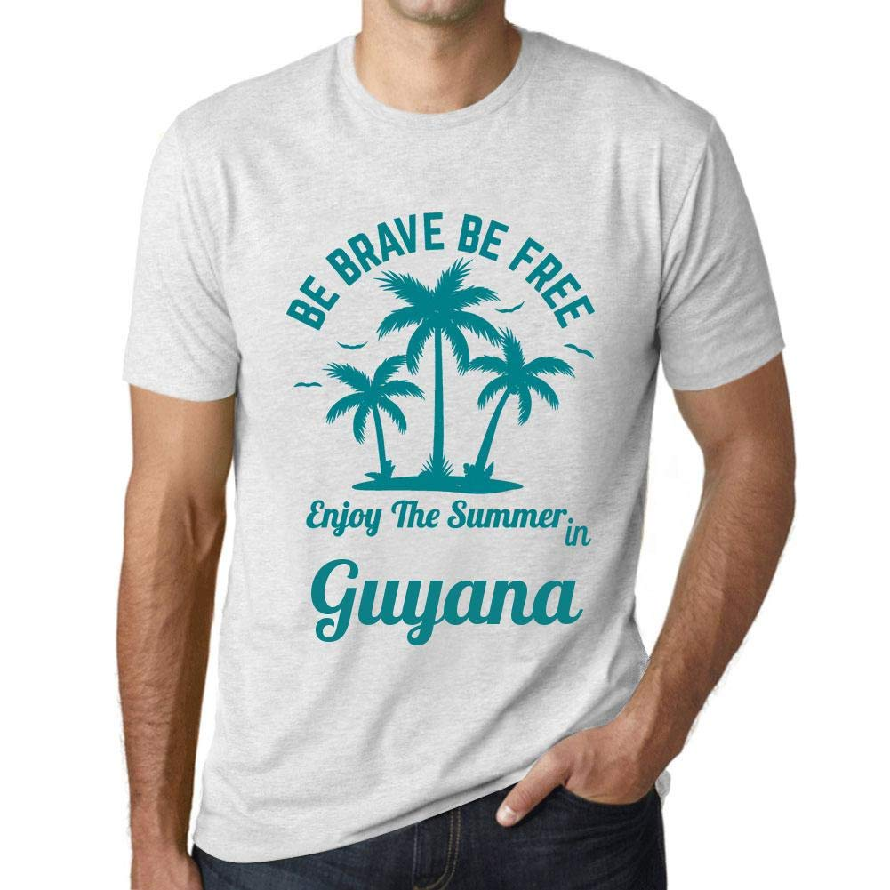 S Graphic T Shirt Be Brave Free Enjoy The Summer Guyana Vintage