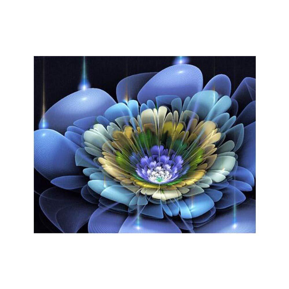 WOBANG DIY 5D - Cuadro de Pintura de Diamantes para Manualidades (Completo, tamaño Grande), diseño de Flores: Amazon.es: Juguetes y juegos