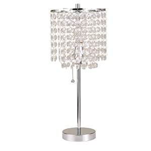 Ore International 8315C Deco Glam Table Lamp, 20.25""