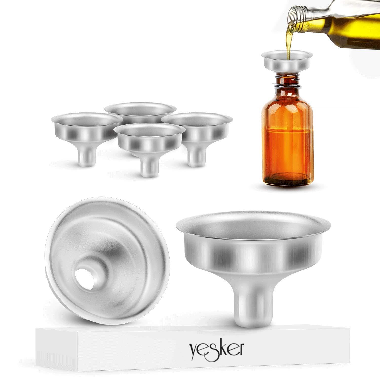 Yesker Stainless Steel Mini Funnel for Essential Oil Bottles Flasks 6PCS