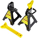 JEGS Jack Stands   3-Ton Per Pair/Per Axle Capacity   Adjustable Height From 12 to 16 1/4 Inches   High Strength Welded Steel