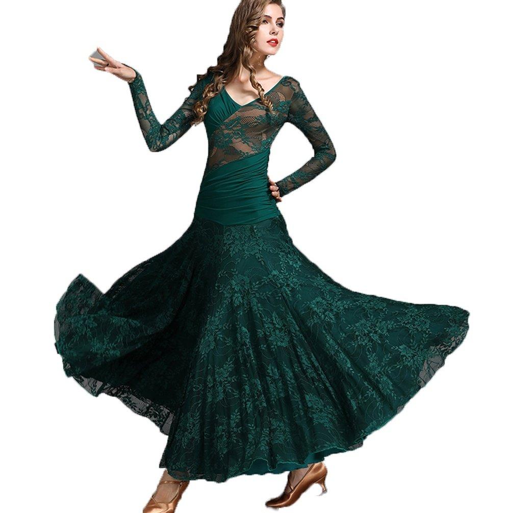 Nationale Nationale Nationale Ballsaal Tanz Kleid für Frauen Trainieren Voll Schnüren Lange Ärmel Wettbewerb Kleider Modern Walzer Tanz Outfit B07CMYV52B Bekleidung Zu verkaufen 6c48d3