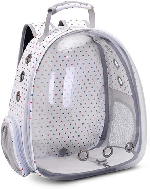 WYCYZJ Portable Pet Carrier Cat Backpack Space Capsule Travel Dog Cat Bag Transparent Cat Carriers,Little Star White: Amazon.es: Productos para mascotas