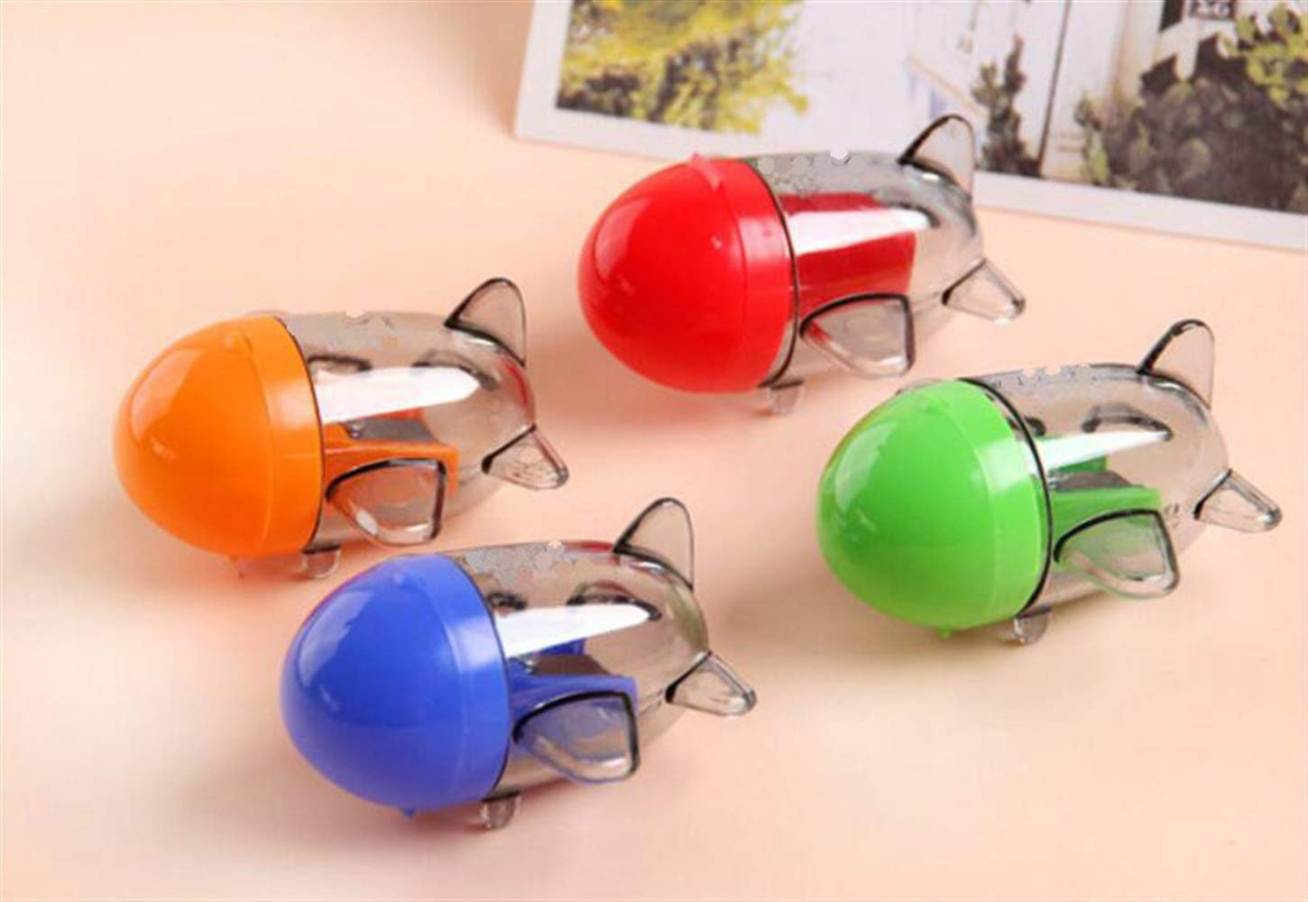 Polymer 1Pc Aircraft Shape Single Hole Pencil Sharpener School Stationery(Random Color)