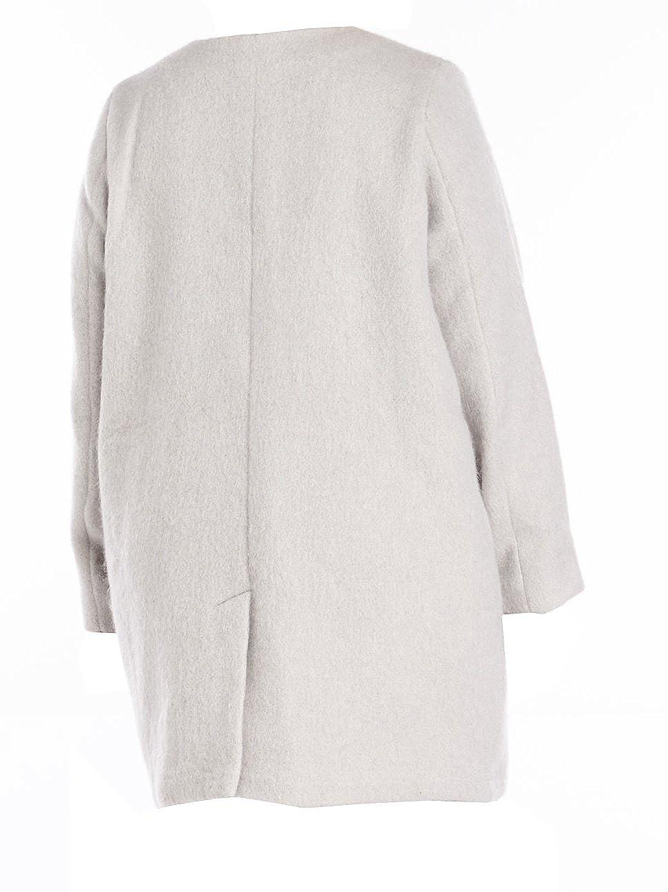 d8e3aa5fadf BB Dakota Women s Plus Size Cassady Collarless Wool Blend Coat at Amazon Women s  Clothing store