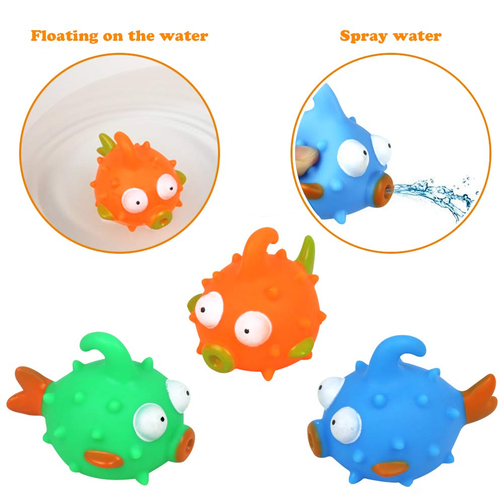 Bath Toys Fishing Game with Floating Fish Rod, Bubble Bathtub Toy for Baby Kids Girls Boys 2 3 4 Years Old Early Education, Random Delivery