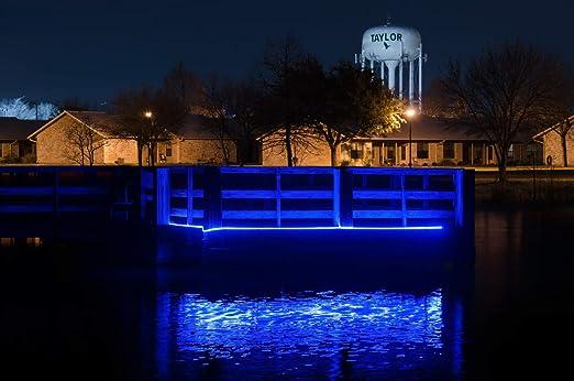 Green Blob Outdoors Pimp My Dock LED Lights DIY Premium 15,000 Lumen LED Under Dock Lighting Kit SMD5630 IP68 Completely Waterproof Blue, Green, UV, White, or Color Changing Neon Blue 25ft