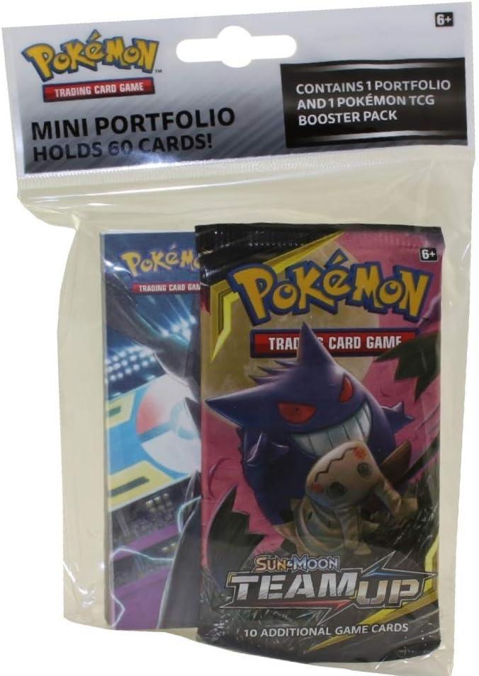Pokemon TCG: Sun & Moon 9 Team Up Mini Portfolio with Booster Pack ...
