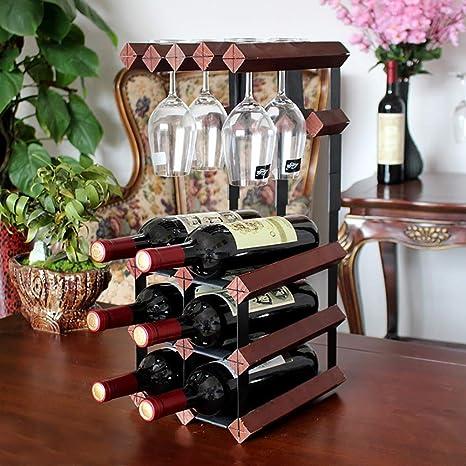 Portabottiglie Per Vino In Legno Massello Regalo Per Bottiglia Multi