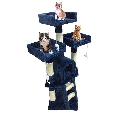Homgrace Árbol para Gatos con Rascador, Escalador para Gatos para Que los Gatos para Relajarse