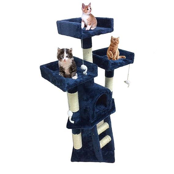 Homgrace Árbol para Gatos con Rascador, Escalador para Gatos para Que los Gatos para Relajarse, Jugar y Descansar Color Azul Marino: Amazon.es: Productos ...