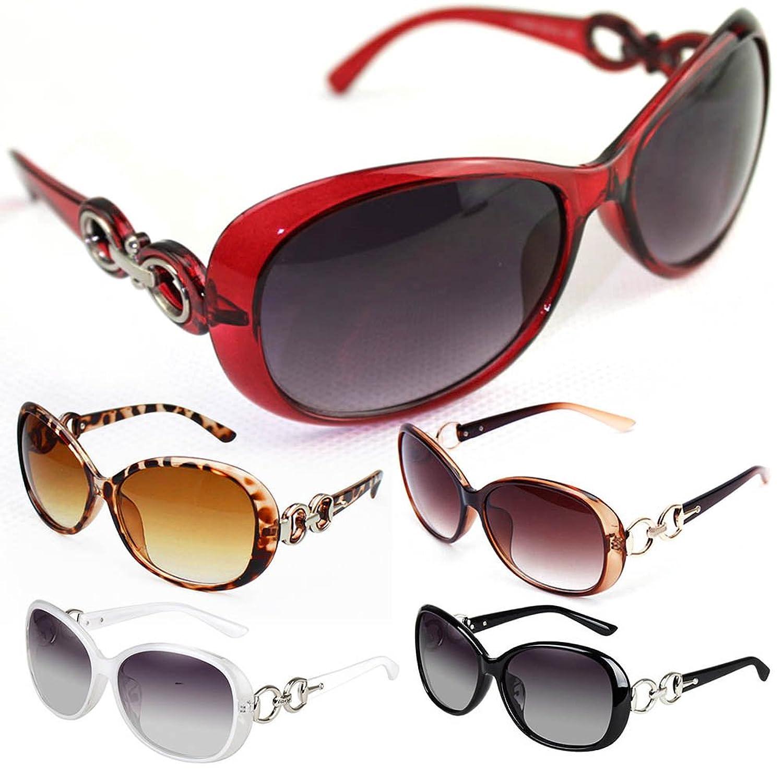 Daxin Stylish Lady Oversized Sunglasses Retro Plastic Frame Glasses Polarized Eyewear