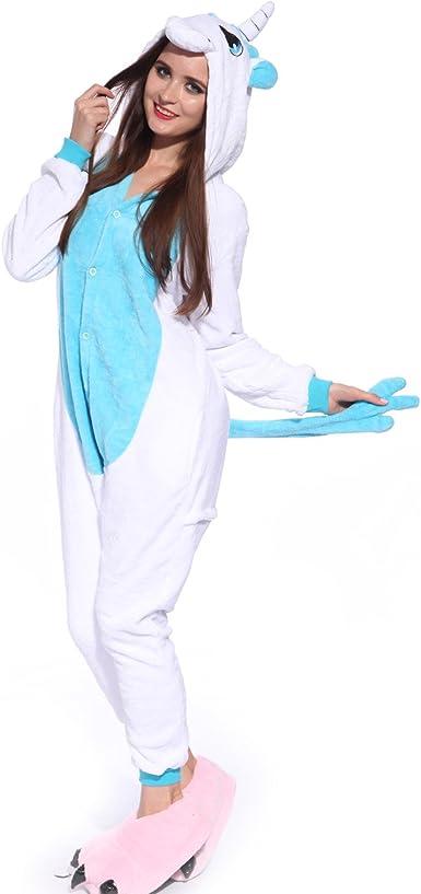Unisex Azul Rosa Unicornio Kigurumi Animal para Pijamas de ...