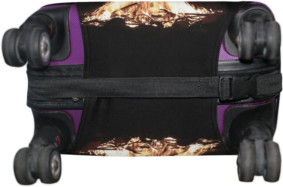 LEISISI Burning Flame 1 Luggage Cover Elastic Protector Fits XL 29-32 in Suitcase