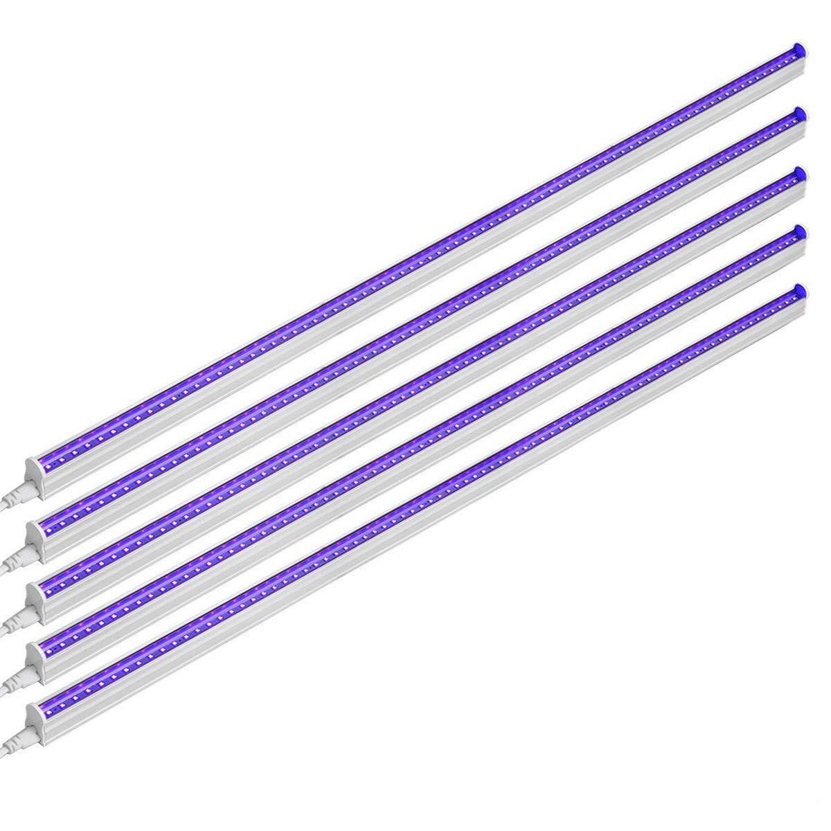 LED Fantasy UV LED Blacklight Bar 20w 4ft T5 Integrated Bulb Black Light Fixture for Blacklight Poster and Party Fun Atmosphere with Built-in ON/Off Switch