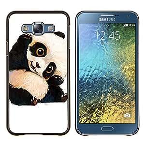 LECELL--Funda protectora / Cubierta / Piel For Samsung Galaxy E7 E700 -- bebé lindo oso panda niños niños de --