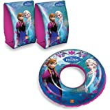 Disney Frozen Elsa & Anna Children's 50cm Swim Ring & 25x15cm Armbands Set