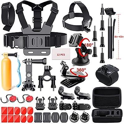 Mogomiten 41-in-1 Gopro Accessories Kit for GoPro Hero 6 5 Black 4 3 AKASO Xiaomi Yi 4K Sports Action Camera Accessory Kit