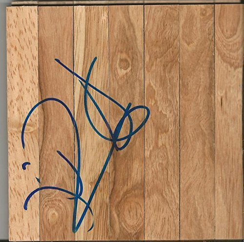 Johan Petro Signed 6X6 Floorboard Sonics Hawks Nets   Autographed Nba Floor Boards