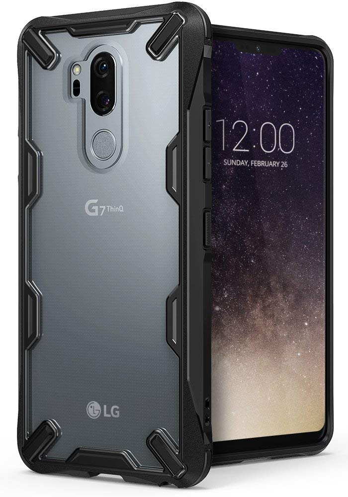 Ringke Fusion-X Compatible with LG G7 ThinQ Case Military Drop Defense Phone Cover LG G7 Case (2018) - Black