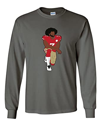 6891f7d0 The Silo LONG SLEEVE CHARCOAL Colin Kaepernick National Anthem T-Shirt ADULT