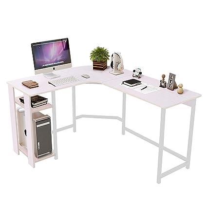 Amazon.com: DL Furniture   Modern L Shaped Desk, Home Office Workstation  Corner Desk, Computer Writing Desk Table (Cream White): Kitchen U0026 Dining