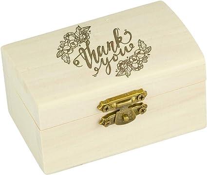 Madera baúl Mini, Cofre del Tesoro, caja de madera, Baúl, caja, del paquete, decoración, pino, natural, con grabado individual, 90 x 49 x 54 mm: Amazon.es: Coche y moto