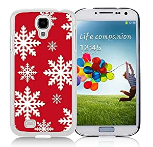 Hot Sell Samsung S4 TPU Protective Skin Cover Christmas Snowflake White Samsung Galaxy S4 i9500 Case 9