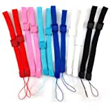yueton 12pcs Universal Replacement Hand Wrist Strap Wristlet Wristband with Lock for Wii Remote Controller Mobile Phone…
