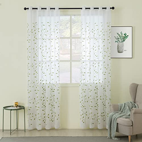 MIULEE Decorative Sheer Curtain