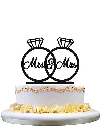 Lesbische Hochzeitstorte Topper Monogramm Kuchen Deckel Frau U